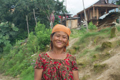 A residents of the village Thuladurlung Stock Photo