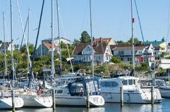 Residentual e casas Langedrag Gothenburg do feriado Imagem de Stock