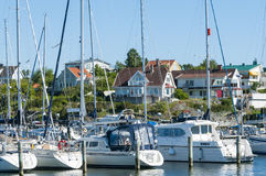 Residentual e case delle vacanze Langedrag Gothenburg Immagine Stock
