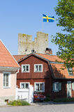 Residentual housing Visby Sweden Royalty Free Stock Photography