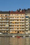 Residentual kwartalny Sztokholm Obrazy Royalty Free