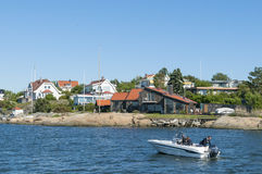 Residentual steuert Langedrag Gothenburg automatisch an Lizenzfreie Stockfotografie