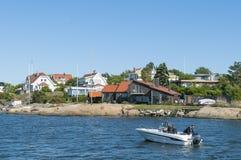 Residentualhuizen Langedrag Gothenburg Royalty-vrije Stock Fotografie