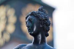 Фонтан и скульптура искусства в месте Residenz Мюнхена в Мюнхене, Германии стоковые фото