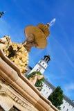 Residenz fontanna w Salzburg zdjęcie stock