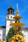 Residenz fontanna w Salzburg obraz royalty free