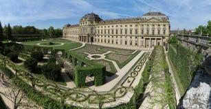Residenz Wurzburg - παλάτι στο Wurzburg - μνημείο της ΟΥΝΕΣΚΟ - στη Βαυαρία Στοκ εικόνες με δικαίωμα ελεύθερης χρήσης