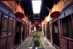Residenza antica cinese Immagini Stock Libere da Diritti
