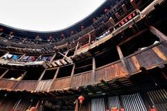 Residenza del castello della terra, Fujian, Cina Fotografie Stock Libere da Diritti