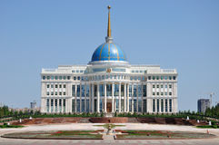 Residenza del Presidente a Astana fotografie stock libere da diritti