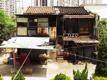 Residenza dello shophouse dell'occupatore abusivo Immagine Stock