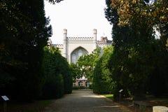 Residenza di Kornik del castello della Polonia di signora famosa di bianco del fantasma fotografie stock
