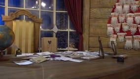 Residenza di Natale del video del Babbo Natale stock footage