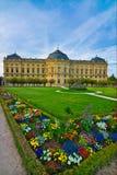 Residenza di Wurzburg in primavera fotografia stock