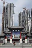 Residenza e tempio moderni Fotografia Stock