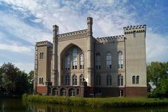 Residenza famosa di Kornik del castello della Polonia di signora bianca fotografia stock
