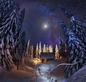 Residenza Santa Claus immagini stock libere da diritti