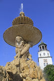 Residenzbrunnen. Fountain in front of the town hall in Salzburg, Austria Stock Photo