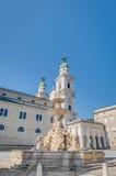 Residenzbrunnen fountain in Salzburg, Austria Stock Image