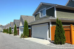 Residenze a Richmond BC Canada. fotografia stock