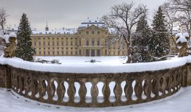 Residenze of Wurzburg Germany in snow Royalty Free Stock Image