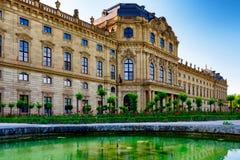 Residenzen av Wurzburg, Tyskland Royaltyfri Fotografi
