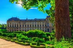 Residenzen av Wurzburg-Tyskland Royaltyfri Foto
