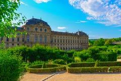 Residenzen av Wurzburg, Tyskland Arkivfoto