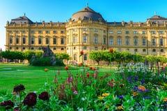 Residenzen av Wurzburg, Tyskland Royaltyfria Foton