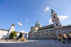 Residenzplatz - Salisburgo, Austria Fotografia Stock
