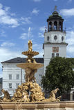 Residenzplatz - Salisburgo - l'Austria fotografia stock