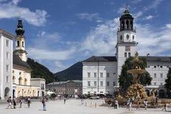 Residenzplatz - Salisburgo - l'Austria immagini stock