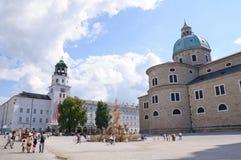 Residenzplatz - Salzbourg, Autriche image libre de droits