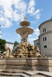 Residenzplatz Square Fountain Royalty Free Stock Photography