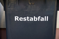 Residual waste royalty free stock photography