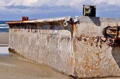 Residui dei tsunami Fotografie Stock