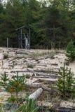 Residui del GULAG del campo sull'isola Mudjug Immagini Stock