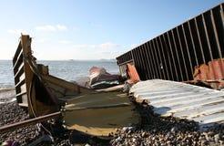 Residui del naufragio Fotografie Stock Libere da Diritti