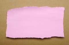 Residui di carta rosa lacerati Fotografia Stock Libera da Diritti