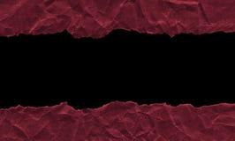 Residui di carta rosso scuro su un fondo bianco Isolato su bianco Struttura pronta per progettazione, modello royalty illustrazione gratis