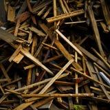 Residuo della lavorazione del legno Fotografia Stock