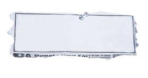 Residuo della potatura meccanica di giornale in bianco orizzontale Immagine Stock