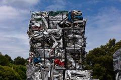 Residuo di alluminio in cubi per rifondere Immagine Stock Libera da Diritti