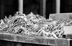 Residuo di alluminio in fonderia Fotografia Stock Libera da Diritti