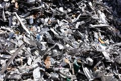 Residuo di alluminio per rifondere Immagini Stock Libere da Diritti