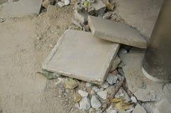 Residuo di pietra del cemento tagliato Fotografia Stock Libera da Diritti