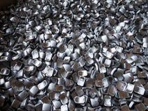 Residuo Recyclingproduct d'acciaio di alluminio Fotografie Stock Libere da Diritti