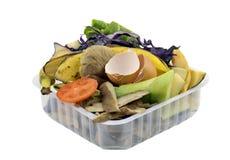 Residuos orgánicos de la cocina Fotografía de archivo libre de regalías