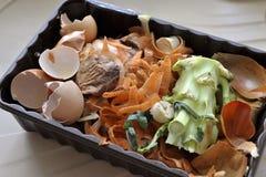 Residuos orgánicos de la cocina Imagen de archivo libre de regalías