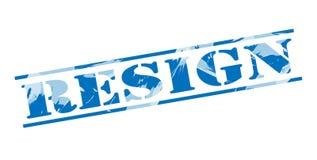 Resign blue stamp Stock Photos